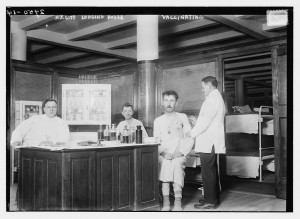 old phot of vaccination