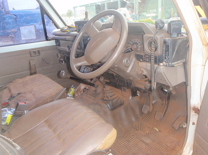Toyota troop carrier interior