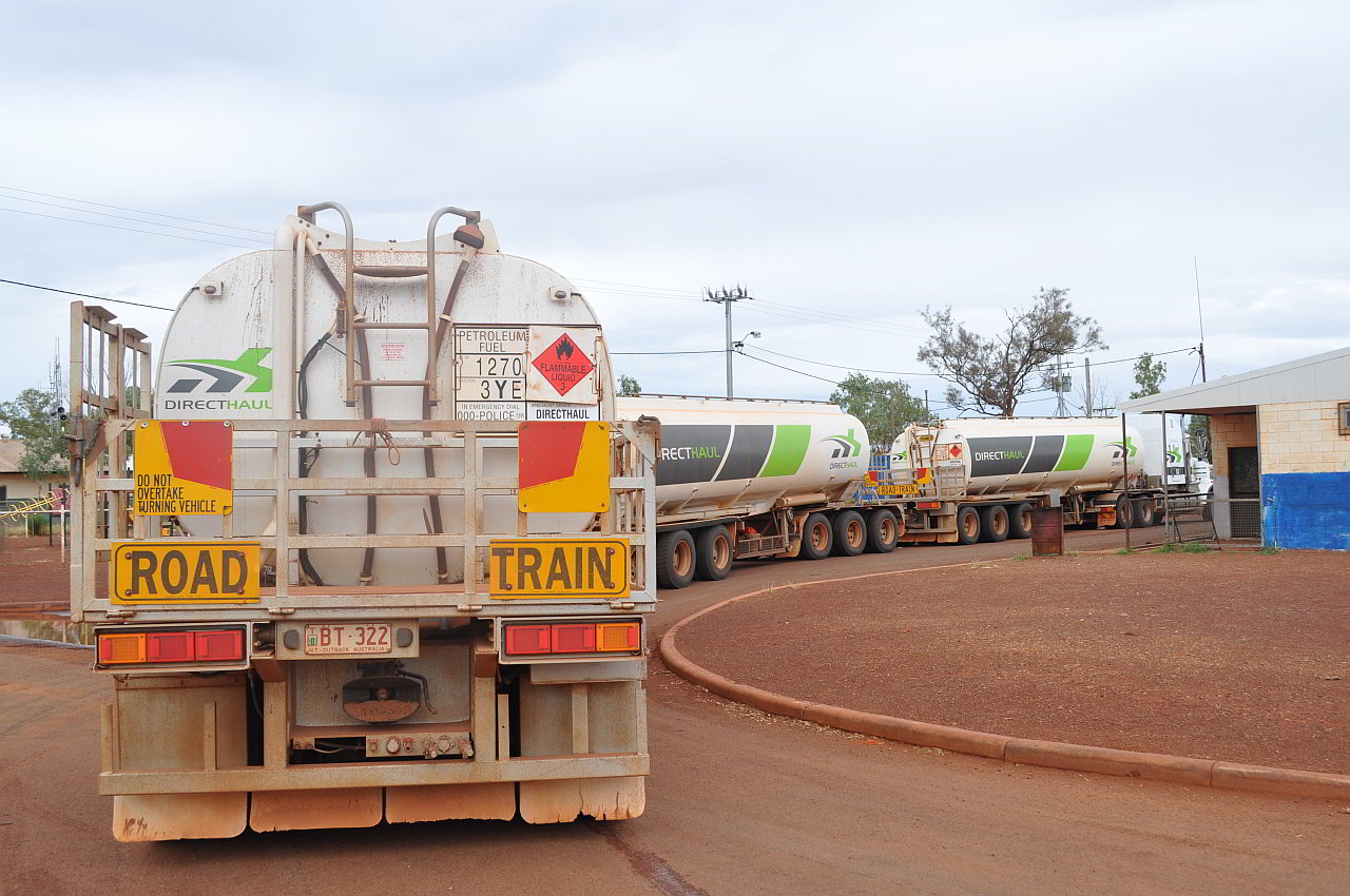 fuel road train
