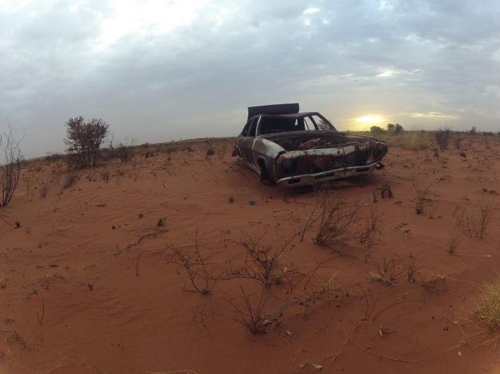 wreck, remote, desert